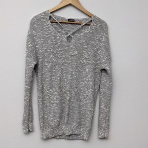 Torrid Gray Marled Strappy Pullover Sweater size 0